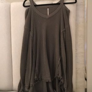 army green free people sweater